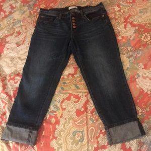 Loft Button-fly Boyfriend Jeans size 6/28 petite